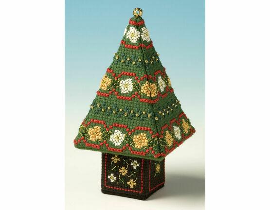 Red & Gold Small Tree 3D Cross Stitch Kit