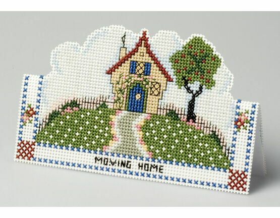 Moving Home Card 3D Cross Stitch Kit