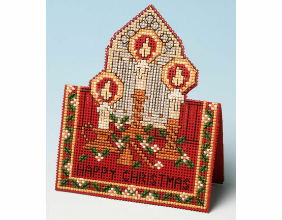 Christmas Lights Card 3D Cross Stitch Kit