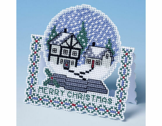 Snow Globe Christmas Card 3D Cross Stitch Kit
