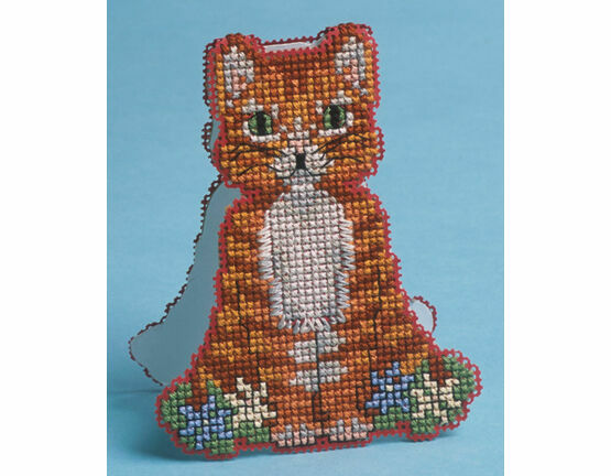 Stand-Up Cat Card 3D Cross Stitch Kit