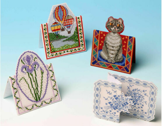 Greetings Cards 3D Cross Stitch Selection Pack (4 Cards)