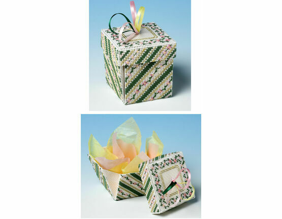 Rambling Rose Exploding Box 3D Cross Stitch Kit