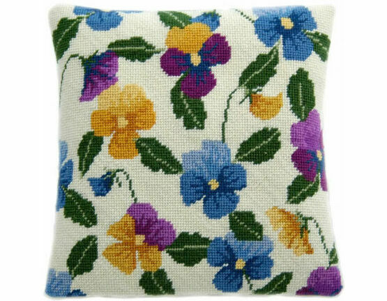 Pansy Garden Herb Pillow Tapestry Kit