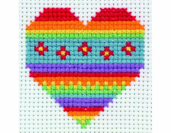 Heart Cross Stitch Kit