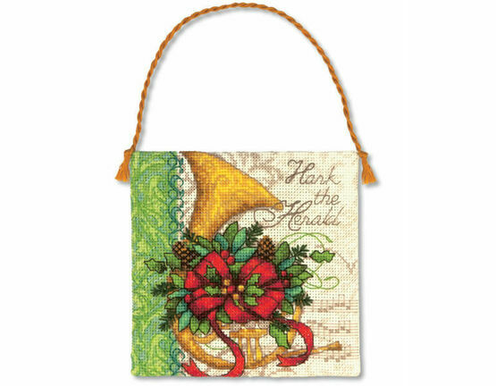 French Horn Ornament Cross Stitch Kit