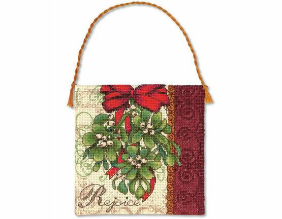 Mistletoe Ornament Cross Stitch Kit