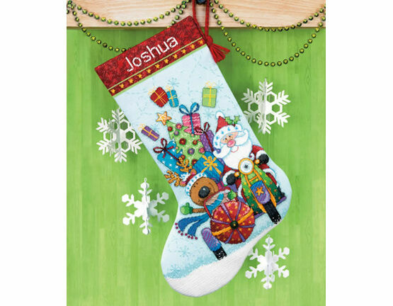 Santa\'s Sidecar Stocking Cross Stitch Kit