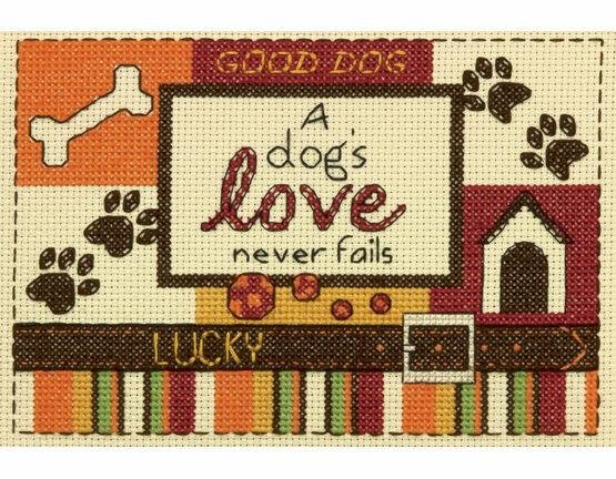 A Dog's Love Cross Stitch Kit