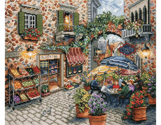 Sidewalk Cafe Cross Stitch Kit