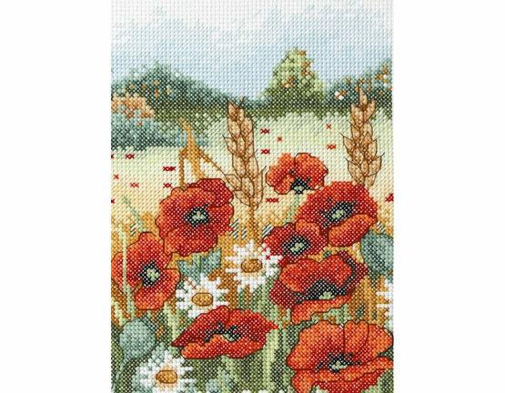 Poppies Field Cross Stitch Starter Kit
