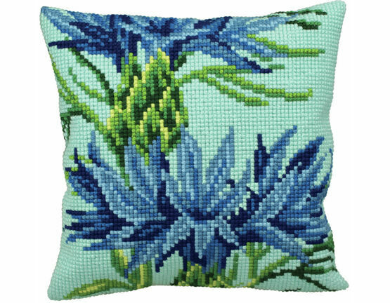 Blueberry Cushion Panel Cross Stitch Kit