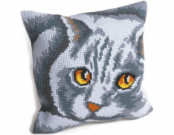 Persian Cat Cushion Panel Cross Stitch Kit