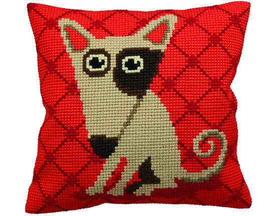 Droopy Dog Chunky Cross Stitch Cushion Panel Cross Stitch Kit