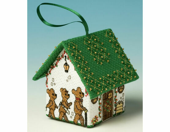 Goldilocks & The Three Bears 3D Pantomime House Cross Stitch Kit