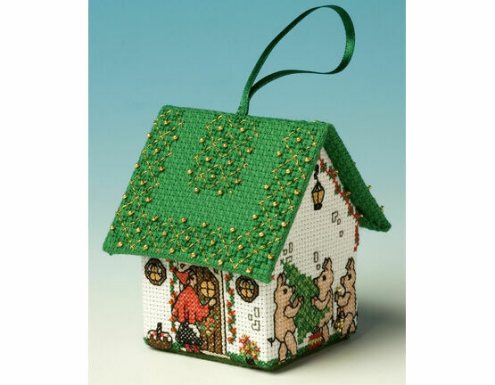 Red Riding Hood 3D Pantomime House Cross Stitch Kit