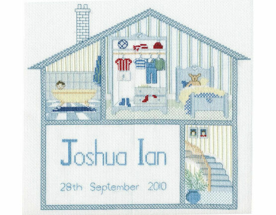 Baby Boy House Cross Stitch Kit