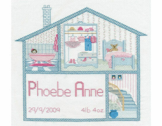 Baby Girl House Cross Stitch Kit