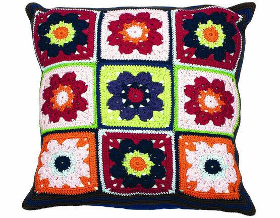 Flowers Cushion Crochet Kit