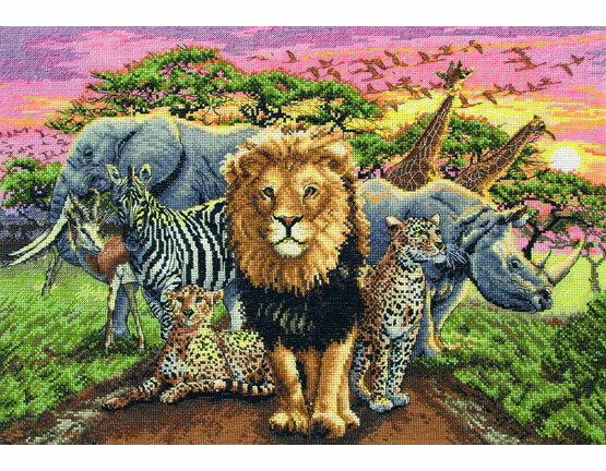 African Beasts Cross Stitch Kit