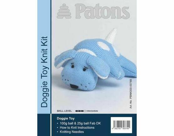 Doggie Toy Knit Kit - Blue