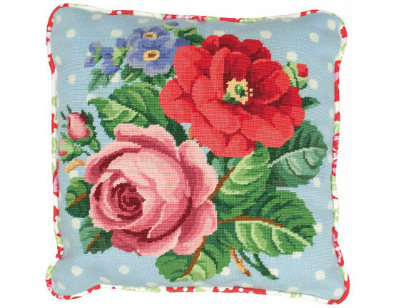 Berlin Rose Cushion Panel Tapestry Kit