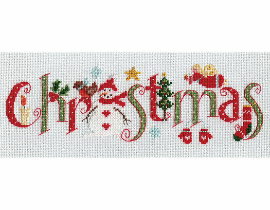 Christmas Word Sampler Cross Stitch Kit