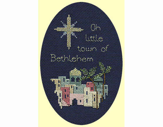 Bethlehem Christmas Cross Stitch Card Kit