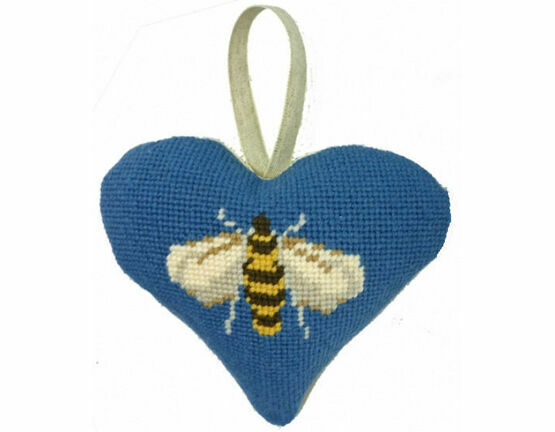 Bee Lavender Heart Tapestry Kit