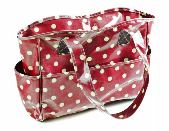Cherry Red Spot Vinyl Crafters Bag