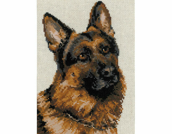 German Shepherd Cross Stitch Kit