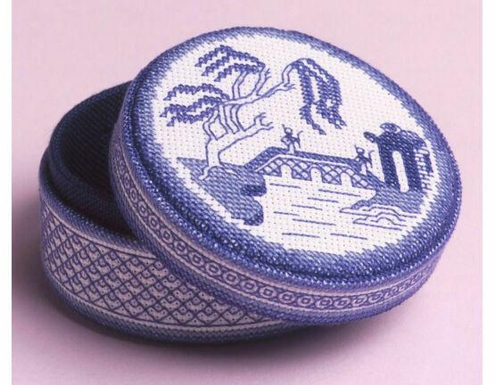 Blue Willow Bridge Box 3D Cross Stitch Kit