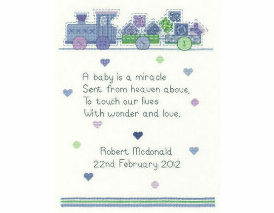 Baby Boy Verse Cross Stitch Kit