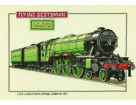The Flying Scotsman Cross Stitch Kit