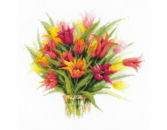 Tulips In A Vase Cross Stitch Kit