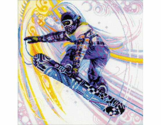 Snowboarder Cross Stitch Kit