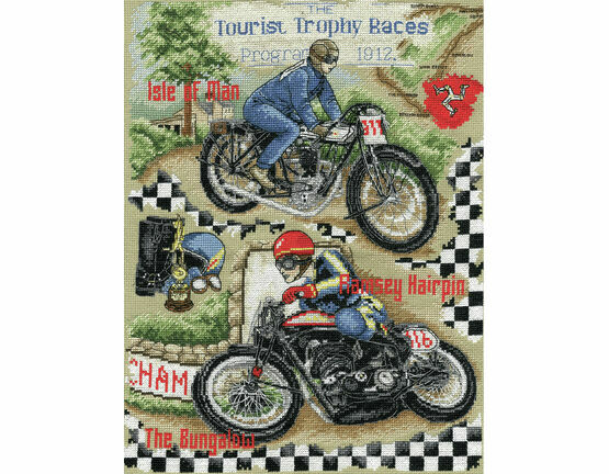Isle Of Man TT Cross Stitch Kit
