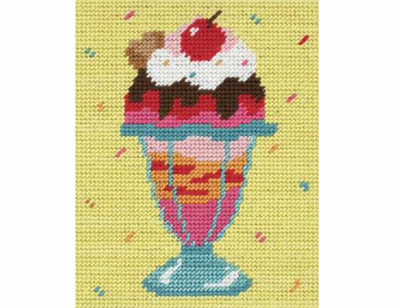 Cherry Top Sundae Beginners Tapestry Kit