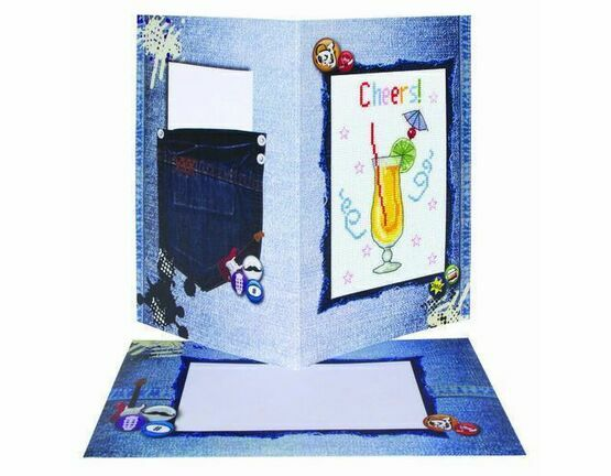 Congratulations Cheers Cross Stitch Card Kit