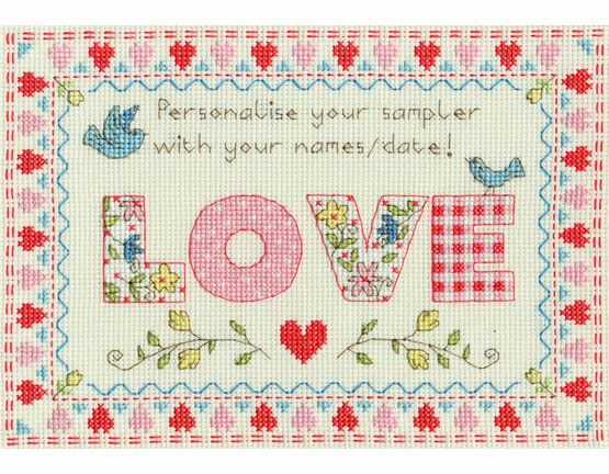 Love Sampler Cross Stitch Kit