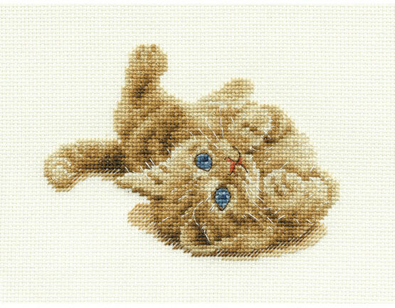 Kitten Playing Cross Stitch Kit