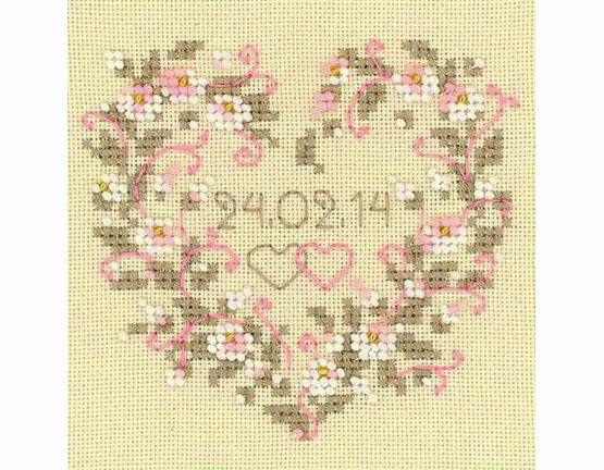 From All My Heart Cross Stitch Kit