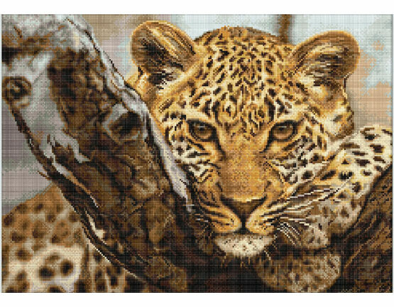 Leopard Cross Stitch Kit