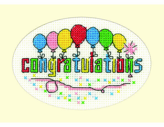 Congratulations Cross Stitch Card Kit