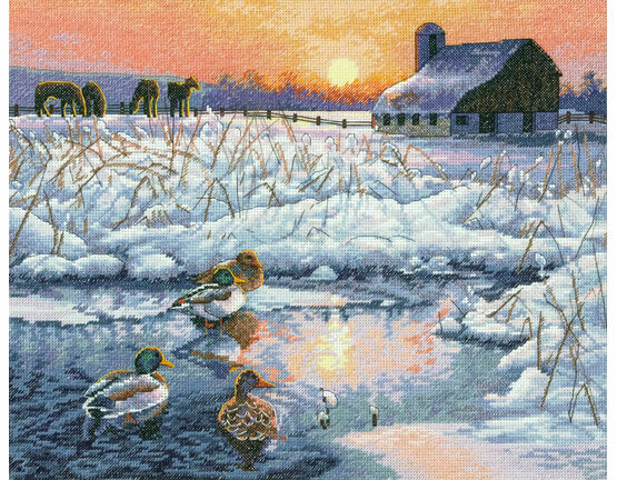 Winter Morning Cross Stitch Kit
