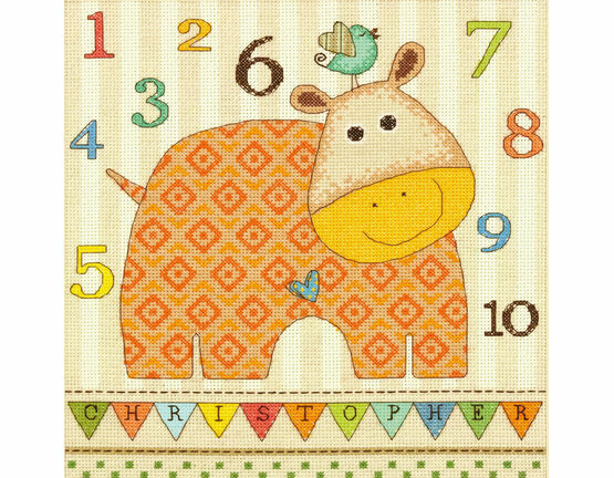 Baby Hippo 123 Cross Stitch Kit