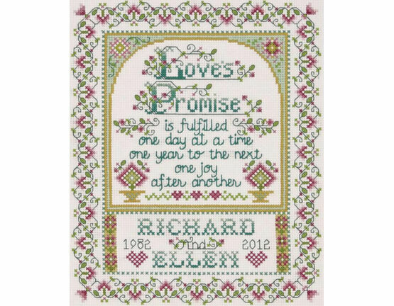 Love\'s Promise Cross Stitch Kit