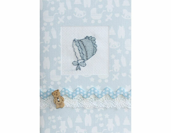 Blue Bonnet Cross Stitch Card Kit