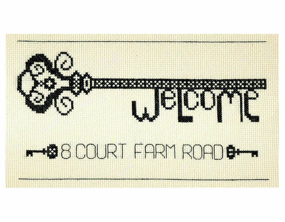 Vintage Welcome Key Cross Stitch Kit