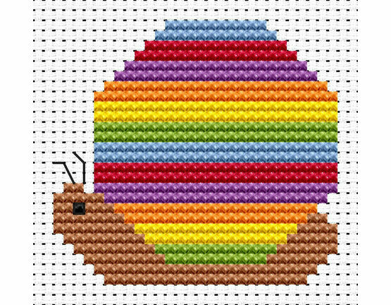 Sew Simple Snail Cross Stitch Kit